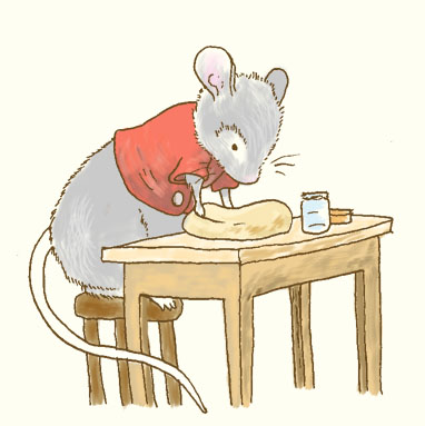 mouse kneading dough